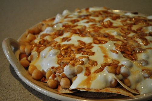 Fatteh with hummus crumbled samis kitchen fatteh with hummus crumbled forumfinder Choice Image